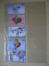 VALENTINE'S DAY Complete Set of 5 Different Phone Cards from Brazil