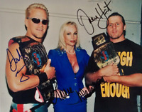 Owen Hart & Jeff Ja Jarrett Autograph Pre Print Wrestling Photo 8x6 Inch WWF WCW