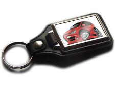 RENAULT SCENIC MPV Koolart Leather and Chrome Keyring