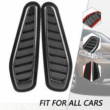 2Pcs New Car Universal Decorative Air Flow Intake Hood Scoop Vent Bonnet Cover
