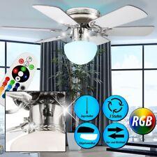 RGB LED Decken Ventilator Lüfter Farbwechsel Leuchte Raum Kühler Wärmer dimmbar