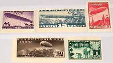 Russia 1931 397-01 C c15-19 Airships Zeppelins dirigibili Over Moscow MVLH OG