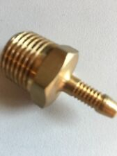 """WADE BRASS COMPRESSION FITTING 1/4"""" High Pressure Nozzle To 1/2"""" Male Taper gas"""
