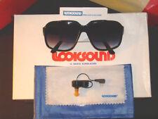 Retro Vintage Style Portable FM IC Radio Fashion Sunglasses, Black, NOS