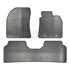 Toyota Avensis 2009 - 2011 Tailored 3 Piece Rubber Car Mat Set 2 Round Clips