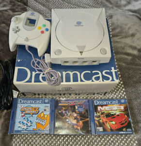 sega dreamcast pal console boxed with games