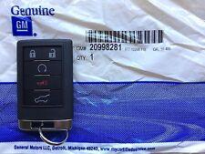 2008-2009 Cadillac SRX Keyless Remote Key Fob Entry Transmitter GM 20998281 OEM