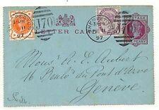 AC119 gb 1897 * plateau * genève suisse cover