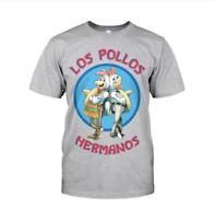 Los Pollos Hermanos Adults T-Shirt Breaking Bad Inspired Tee Top