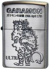 Zippo Oil Lighter Ultra Q Garamon Silver Brass Etching Tsuburaya Pro Anime Manga