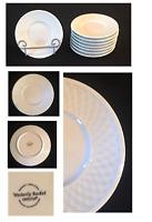"""Vintage ONEIDA Stoneware 6.25"""" Plates WESTERLY BASKET Set of 8"""