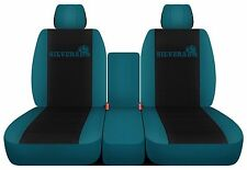 Fits 2014 to 2017 Chevrolet Silverado Seat Covers 40 20 40 Seats Black Center