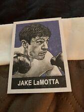Jake Lamotta Card By Cuyler Smith Raging Bull Robert Deniro Boxing