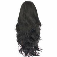 Black Lace Front Wig Synthetic Hair Long Nature Wavy Wigs For Woman Daily Wear