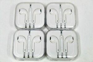 OEM Apple EarPods Earbuds headphone 3.5 mm Jack (LOT OF 4)