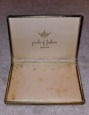 Vintage Leo Glass Jewels Of Fashion Necklace & Earrings Box