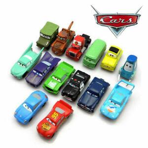 14pc Disney Pixar Cars Kids Toys/Cake Toppers Lightning McQueen Mater Sally UK.
