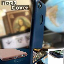 IPhone 7 caso compuesto Micro Cuero Diseño Parachoques & Protector De Pantalla Azul