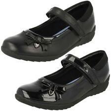 Chaussures noires en cuir pour fille de 2 à 16 ans