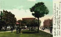 City Hall Square Oakland CA Park People Trolley Street View 1900's Postcard