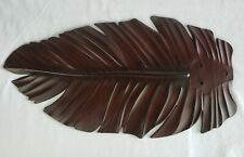 "Harbor Breeze Tropical Palm Leaf Dark Faux Wood 21"" Fan Blade Replacement A"