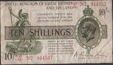 Great Britain 10 /- 1928 P 360 Series G/80 Circulated Banknote