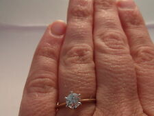 10 Carat Solitaire Round Yellow Gold Fine Rings