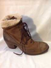 River Island Brown Ankle Leather Boots Size 6