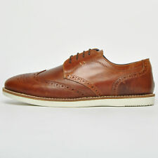 Mens Red Tape Tirley Tan Leather Shoes Wedding Work Formal Party Brogue Shoes UK 7