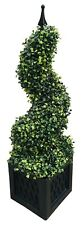 Artificial Boxwood Plant Tree Spiral Tower Realistic Potted Indoor Outdoor 80cm