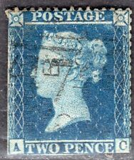 GB UK 1856/8 STAMP Sc. # 19 PERF: 16x16 USED 2d