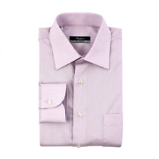 $215 New INGRAM Lilac Extrafine Cotton Made in Italy Dress Shirt 15.5 39