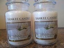 Yankee Candle   Fluffy Towels   22 oz NEW  Lot of 2 Candles Free Shipping 2018