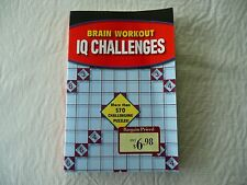 Brain Workout IQ Challenges Paperback Puzzle Book ISBN 978-1-4351-4244-2