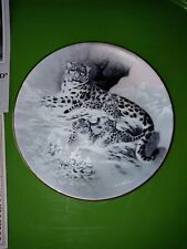 """""""Snow Leopard"""" China's Natural Treasures Knowle's Fine China Plate"""