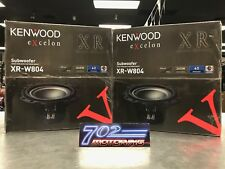 """2 X KENWOOD EXCELON XR-W804 8"""" OVERSIZED SUBWOOFER SINGLE 4-OHM VOICE COIL 1800W"""