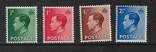 King Edward Viii 1936 Set Of Four Unused Mnh Sg 457-460 My Ref 19