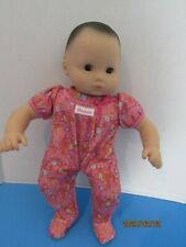 AMERICAN GIRL DOLL BITTY BABY GIRL BROWN EYES & HAIR PINK SLEEPER