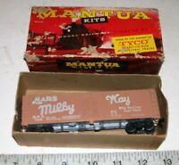 Vintage TYCO MANTUA MARS MILKY WAY HO Refrigerator Advertising Car wMetal Frame