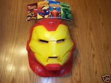 Iron Man Adulto Vinilo Máscara Completa Marvel Nuevo con Etiqueta