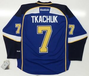 KEITH TKACHUK ST. LOUIS BLUES REEBOK PREMIER HOME JERSEY NEW WITH TAGS
