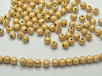 "500 Gold Stardust Acrylic Round Beads 6mm(1/4"") Spacer Finding"