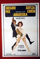 ARABESQUE GREGORY PECK SOPHIA LOREN 1966 RARE EXYU MOVIE POSTER