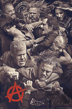 Sons of Anarchy Fighting poster! Crew Motorcycle club Jax Gemma Wayne New!