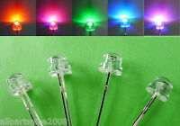 10pcs 5mm Colorful Flashing STRAW HAT WIDE ANGLE LED With 12V Free Resistors