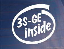 3S-GE INSIDE Novelty Vinyl Car/Window/Bumper Sticker Ideal for Toyota Celica/MR2