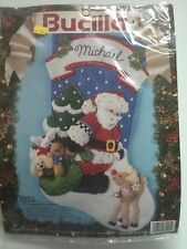 Santa & Rudolph Bucilla 83013 Christmas Felt Applique Holiday Stocking Kit 18""