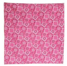 "Bandanna for Bandanna print on Pink 100% Cotton #64 New Handmade 21"" X 21"""