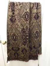 Urban Outfitters Winter Scarf Wrap Shawl Burgundy Tan Reversible New NWT