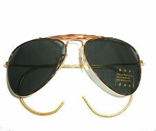 TORTOISE SHELL AVIATOR SUNGLASSES WITH DARK GREEN LENS & FLEXIBLE EAR LOOP/WRAP